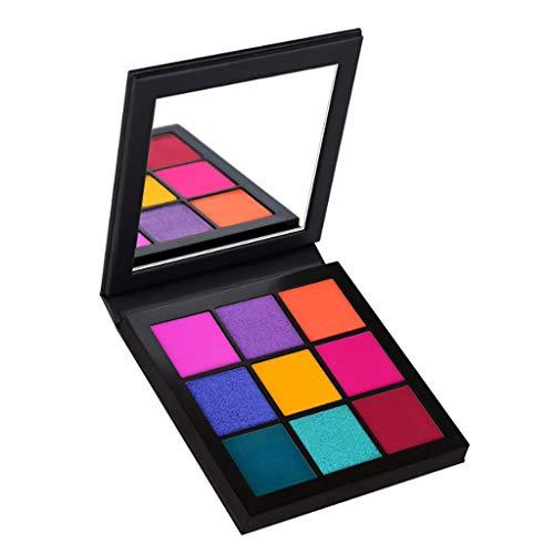 VICCKI Portable 9 Colors Eye Shadow Highlight Face Eyeshadow Highlighter Powder Makeup