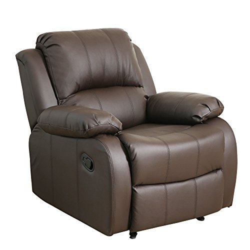 Dland Luxurious Home Theater Seating Recliner Chair Compact Manual Leather Reclining  Sofa Living Room Chairs,