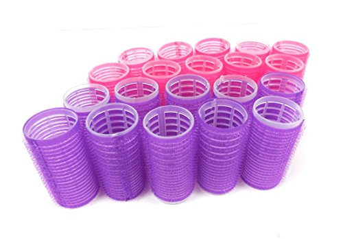 Cling Hair Rollers Self Grip Hair Rollers Pro Salon Hairdressing Curlers Assorted Colors (Large)