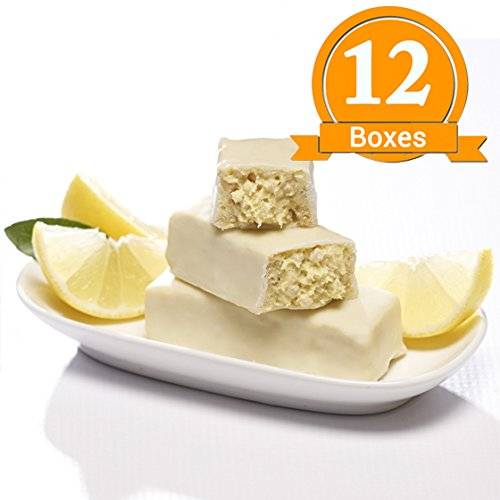 ProtiWise - Zesty Lemon Crisp High Protein Diet Bars | Low Calorie, Low Fat, Low Sugar (12 Boxes) by Proti Wise (Image #1)