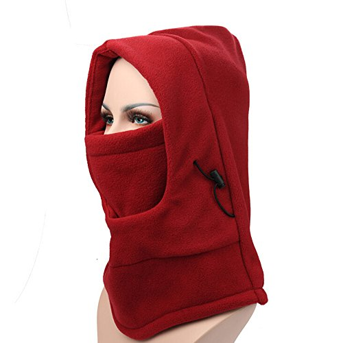 Ezyoutdoor Fleece Balaclava Hooded Face Mask Swat Ski Neck Hoods Full Face Mask Cover Hat Cap for Riding Cycling Hunting Fishing Walking Outdoor Sports (Elvis Scarves)