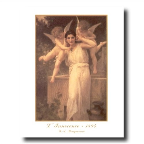 Old Victorian Woman And Angels Contemporary Wall Picture