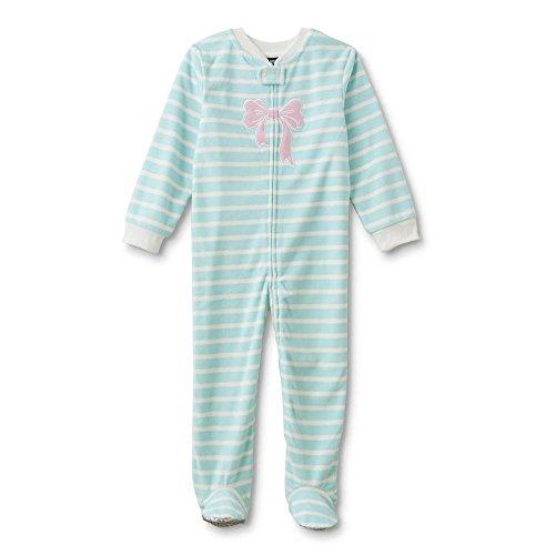 Joe Boxer Toddler & Infant Girls' Footed Sleeper Pajamas - Striped 12 Months