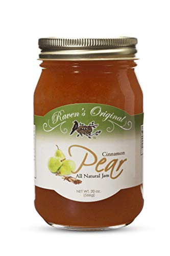 Raven's Original Cinnamon Pear Jam - All Natural - 20 Ounce Jar