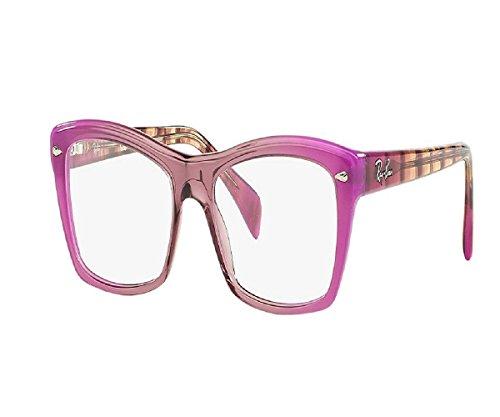 Multi Color Frames Reading Glasses - RAY-BAN RB5255 - 5489 Eyeglasses Pink Multicolour 53mm