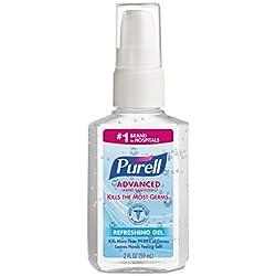 PURELL 960624 Advanced Instant Hand Sanitizer, 2oz Personal Pump Bottle (Case of 24)
