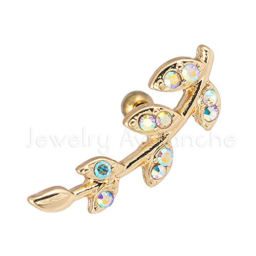 Top 10 recommendation cartilage earring leaf 18g for 2019