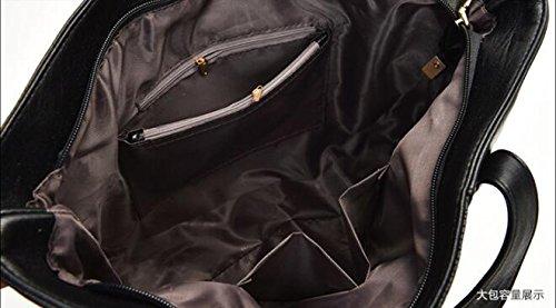 PU LXYIUN Sac Costume Main À Diagonal Kit Sac Main Pièces Black Relief en Trois Cuir À Paquet Gray Embrayage prwqrd