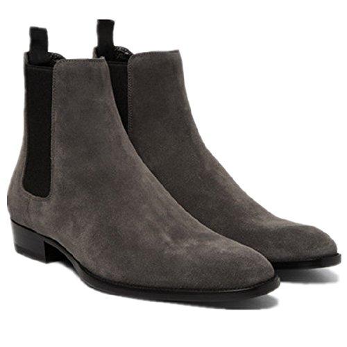 Chelsea Boots Menns Gary Semsket Trekk På Kjolen Ankel Boots Formelle Sko (us 10)