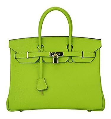 Ainifeel Women's Padlock Handbags with Golden Hardware