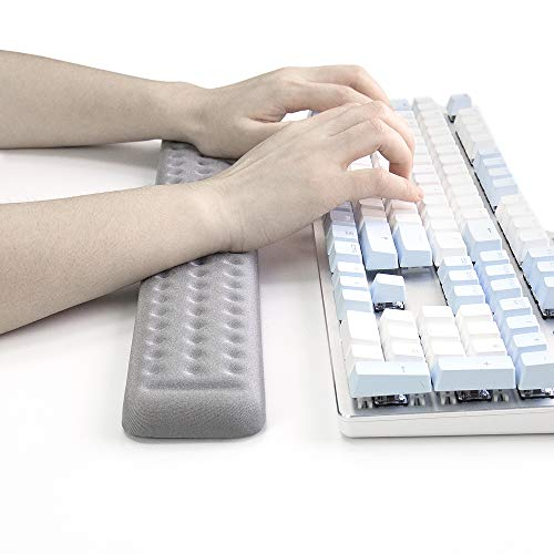 Keyboard Gray Mouse - Keyboard Wrist Rest Gaming tenkeyless Memory Foam Hand Palm Rest Support for Office, Computer, Laptop, Mac Typing and Wrist Pain Relief and Repair (17.3 inch, Gray)