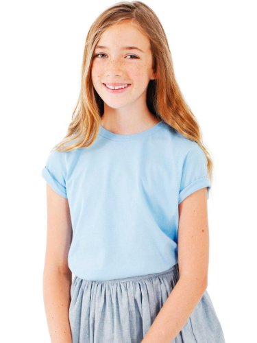American Apparel Boys Fine Jersey Short-Sleeve T-Shirt (2201) -BABY BLUE -10 by American Apparel (Image #6)