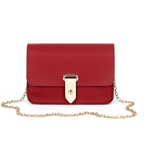 teléfono hombro para PU bandolera cadena Red bolsa Mujer móvil chica tarjeta dinero Majome dama de moda wqvztxH