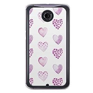 Loud Universe Nexus 6 2015 Love Valentine Printing Files A Valentine 48 Printed Transparent Edge Case - White/Purple