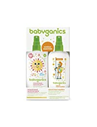 Babyganics Mineral-Based Baby Sunscreen Spray SPF 50, 6oz Spray Bottle + Natural Insect Repellent 6oz Spray Bottle Combo Pack BOBEBE Online Baby Store From New York to Miami and Los Angeles
