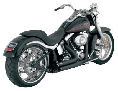 - Vance & Hines Shortshots Staggered Exhaust Black 47221