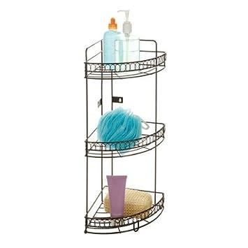 Amazon.com: Bath Bliss 3-Tier Corner Bath Shelf, Bronze Curls ...