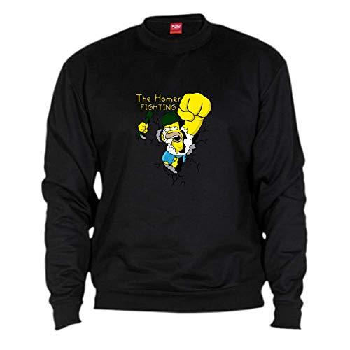 By Unisex Homer Nero Fighting Simpson Felpa Bikerella color w74qxp7