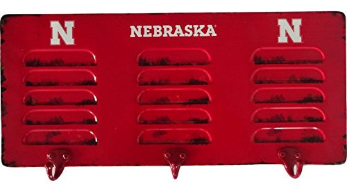 Imperial Officially Licensed NCAA Merchandise: Wall Mounted Metal Locker Coat Rack, Nebraska Cornhuskers