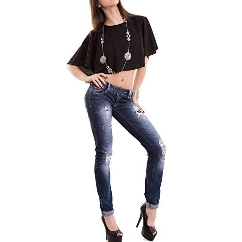 Toocool - Camiseta sin mangas - para mujer negro