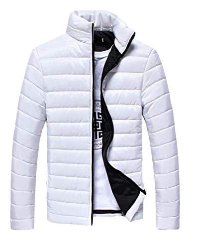 Jacket Stand White Down Men's Lightweight Warm Solid Collar Winter TTYLLMAO fRwHq8px