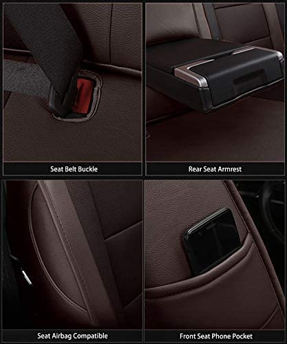 OASIS AUTO 2014-2018 Jeep Cherokee Custom Fit PU Leather Seat Cover Compatible with 2014-2015-2016-2017-2018 Jeep Cherokee 2014-2018 Cherokee 40//60 Split Second Row, Orange