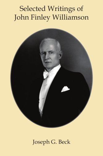Download Selected Writings of John Finley Williamson pdf epub