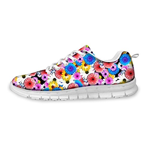 Butterfly Fashion Lace Shoes 1 Womens Flower Bigcardesigns Floral Up Sneakers Running 1Tw5q0tx
