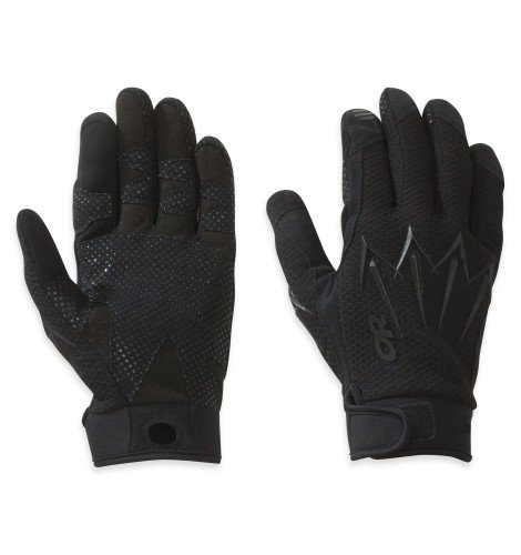Outdoor Research Halberd Gloves, All Black, X-Large