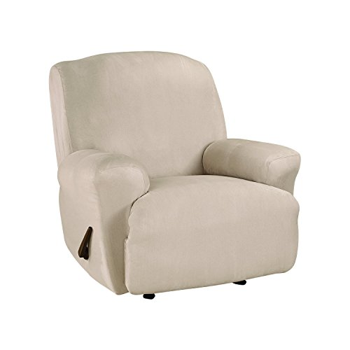 SureFit Ultimate Stretch Suede - Recliner Slipcover  - Cement (SF45267)