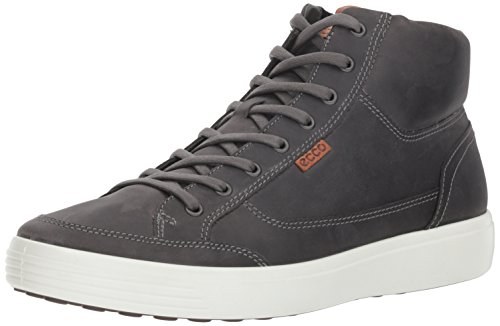 ECCO Men's Soft 7 High-top Sneaker ,titanium,46 M EU (12-12.5 US)