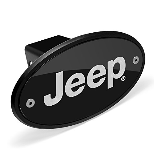 Jeep Black Metal Plate 2 inch Tow Hitch Cover (Jeep Hitch Cover)
