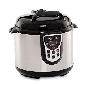 West Bend 6-Quart Stainless Pressure Cooker from West Bend