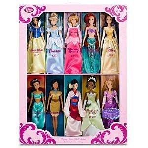 Classic Disney Princess Doll Gift Set - Jasmine, Pocahontas, Rapunzel, Mulan