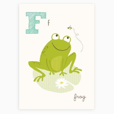 Sea Urchin Studio ABC Wall Art for Kids, F/Frog