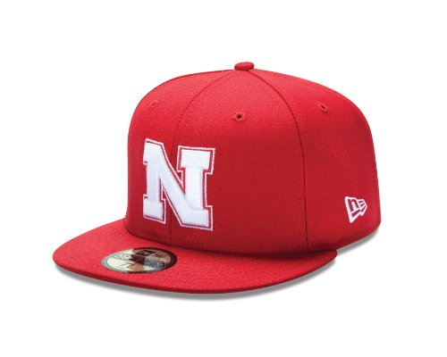 NCAA Nebraska Cornhuskers College 59Fifty, Scarlet Red, 6  7/8