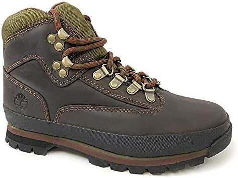 Timberland Womens Euro Hiker Brown Leather Boots (7): Buy