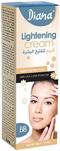 Diana Skin Lightening Cream Skin Lightening BB with UVA/UVB Block 50g BY...
