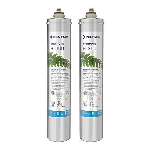 Pentair Everpure H-300 Undersink Water Filter Replacement Cartridge (2 Pack)