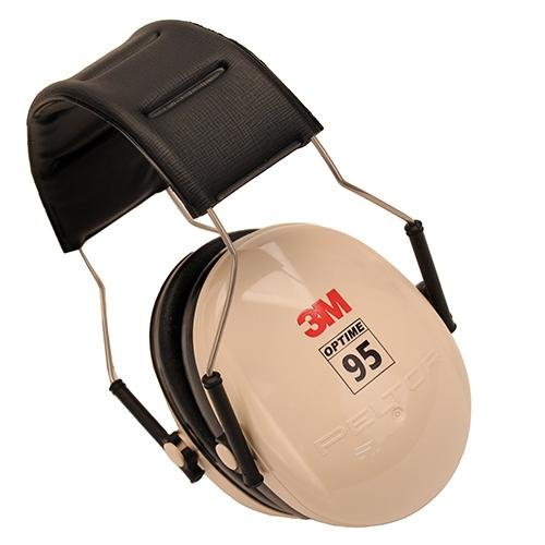 Peltor 95 Behind-The-Head Earmuffs Beige/Black from Peltor