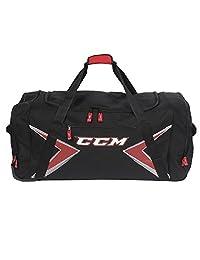 "CCM 36"" Wheeled Hockey Bag with Bonus Drawstring Bag Black/Red"