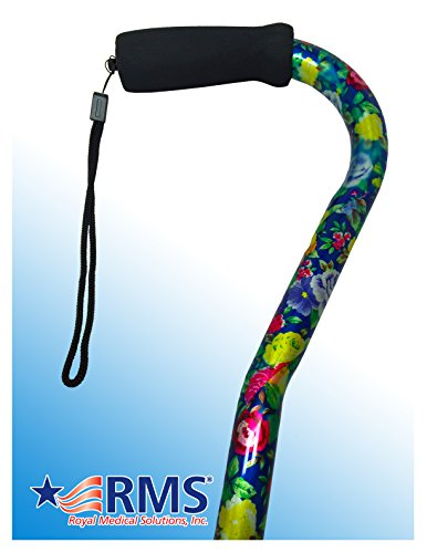 RMS Designer Cane with Adjustable Offset Handle (Flower Bouquet) - Flower Cane
