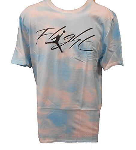 (Nike Air Jordan Flight Time T-Shirt Ice Blue Black Sz Large 789629-457)