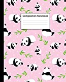img - for Composition Notebook: Pretty Wide Ruled Paper Notebook Journal | Cute Baby Pink Bamboo & Panda Wide Blank Lined Workbook for Teens Kids Students Girls for Home School College for Writing Notes. book / textbook / text book