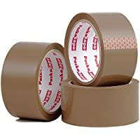 Packatape | Pakketplakband bruin | 66 m lang & 48 mm breed | Ideaal als plakband, verpakkingstape, verpakkingsmateriaal…