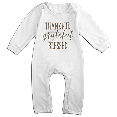 Thankful Grateful Blessed Baby Onesie Romper Jumpsuit Bodysuits -