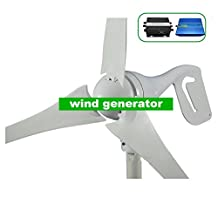 GOWE 400W wind generator,wind turbine, come with wind controller+600w off grid pure sine wave inverter