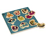 B. Toys – Hide n' Sea Underwater Peg Puzzle – Classic Wooden Puzzles for Toddlers with 9 Chunky Pieces – Best Learning Toys for Toddlers with Sea Animals and Shape Sorting – Natural Wood Puzzle