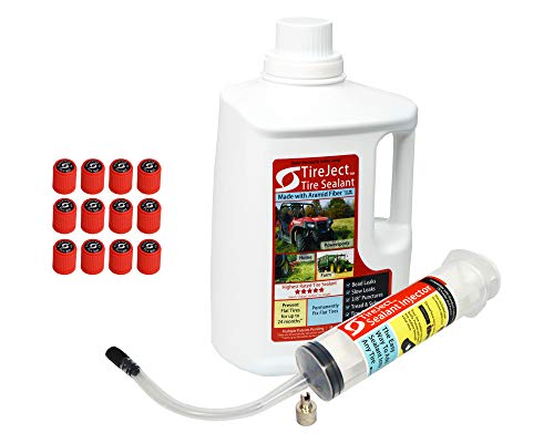 TireJect Off-Road Tire Sealant - Gallon Kit for Larger Tractors or Value Size for Many Off-Road Vehicles (applicate up to 16 ATV Tires)