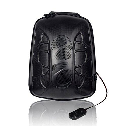 WILDMAN Multi-Functional Waterproof Lightweight Enabled Wireless Bluetooth Speaker LED Light Backpack (Black) by Wildman